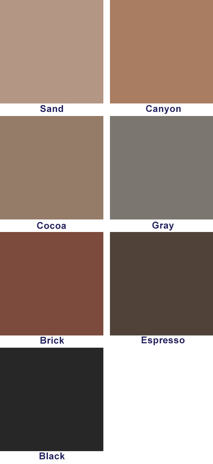 A color swatch of the accent paint colors.